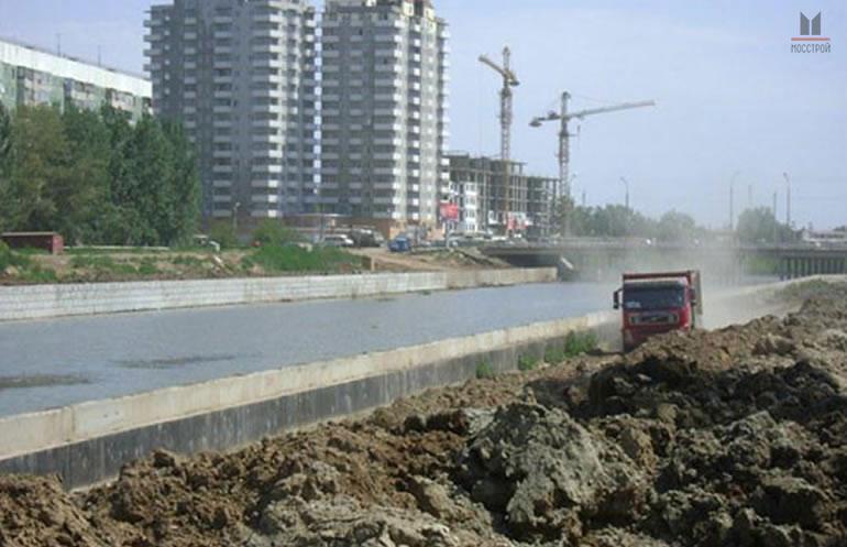 Расчистка и дноуглубление реки Кутум